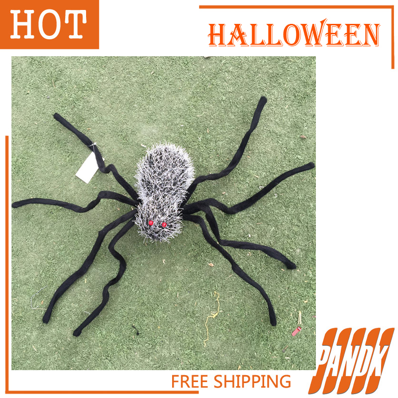 poseable halloween spider with light halloween decorations holiday halloween props haunted house ideas party yard free shipping