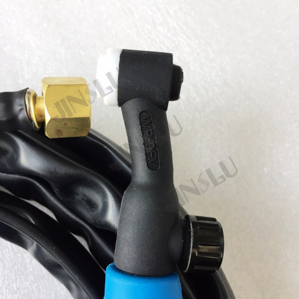 home improvement : Free Shipping Air Cooled Argon WP9FV WP-9FV Flexible With Gas Valve Tig Welding Torch Blue Head 4M Gas And Power Whole 1PCS