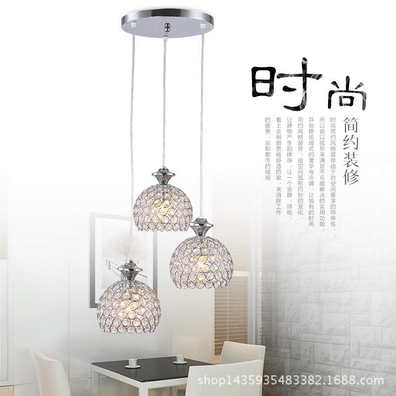 ФОТО Wholesale modern fashion crystal Lamp Creative Led Restaurant Lamp Personality Bar Table Lamp Modern Minimalist Dining Room Lamp