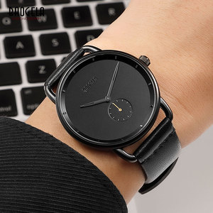 Image 5 - BAOGELA Mens Premium Simple Quartz Watches Casual Leather Strap Minimalism Waterproof Wristwatch for Man 1806Light Brown
