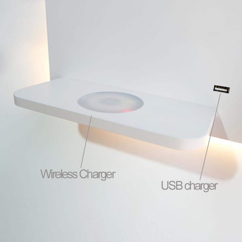 Золотой настенный светильник, современный Лофт, для ежедневного использования, светодиодный светильник, лампа через 5 В, USB порт, 9 В, 1A, беспр... - 4