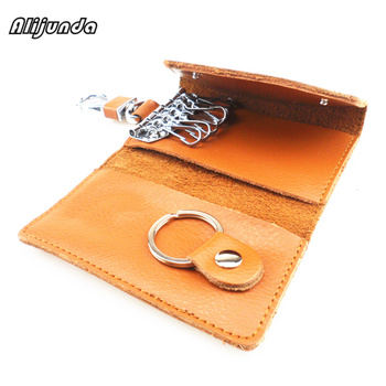 Car key handbag wallet housekeeper multi-function key bag mini card handbag for Volkswagen vw POLO Tiguan Passat CC Golf GTI R20 image
