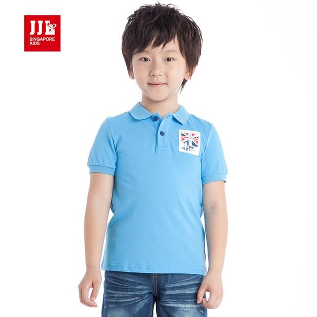 t shirts for boys british styles kids tee shirts summer clothing turn-down collar boys polo shirts size 6-15 free shipping