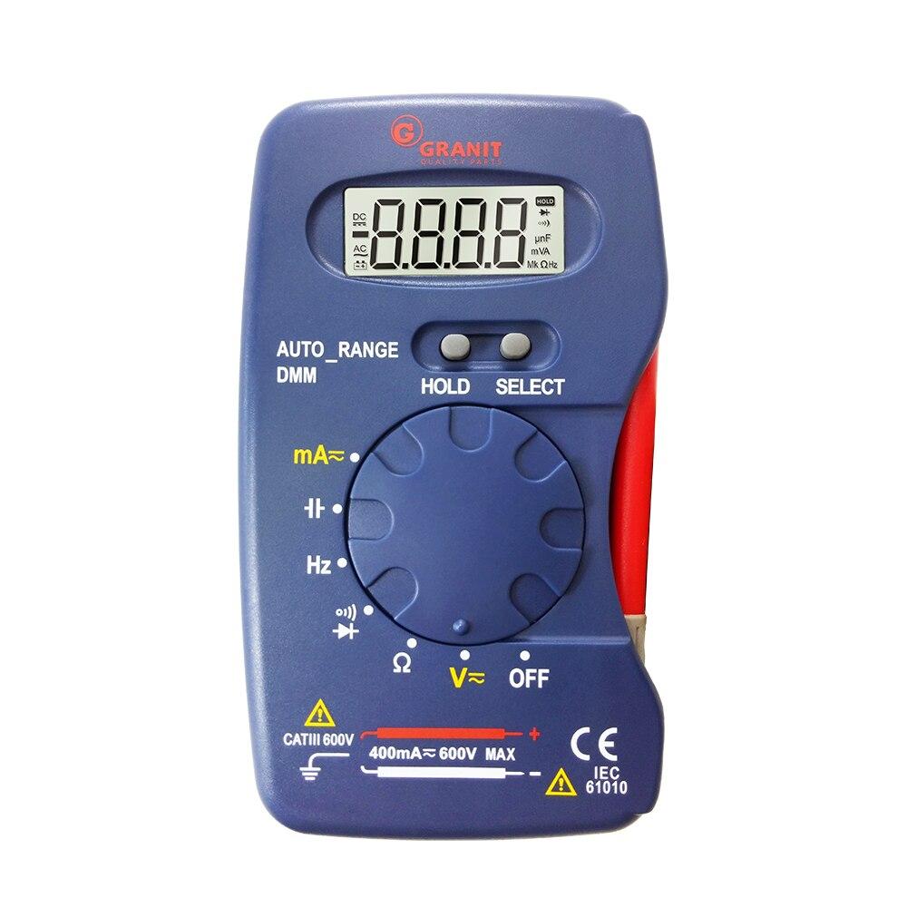 M320 Pocket Size Auto Range Handheld Digital Multimeter DMM Frequency