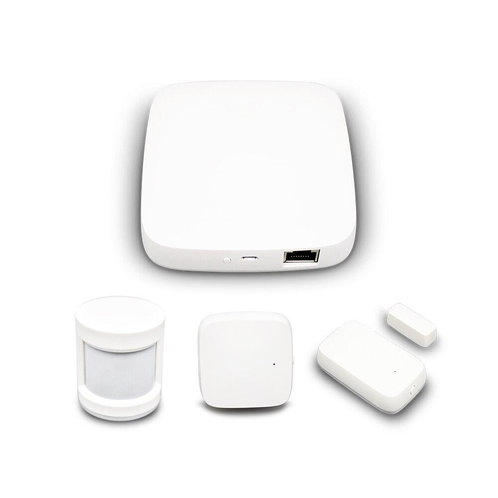 Tuya zigbee hub casa inteligente pir sensor da porta sensor de temperatura e umidade automação residencial kit alarme segurança cena