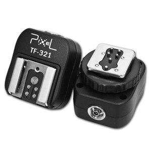 Image 2 - PIXEL TF 321 Flash Adapter TTL PC Port Hot Shoe Converter For Canon 5D Mark III 70D 60D 100D 700D 650D 600D 550D 500D 6D 430EX