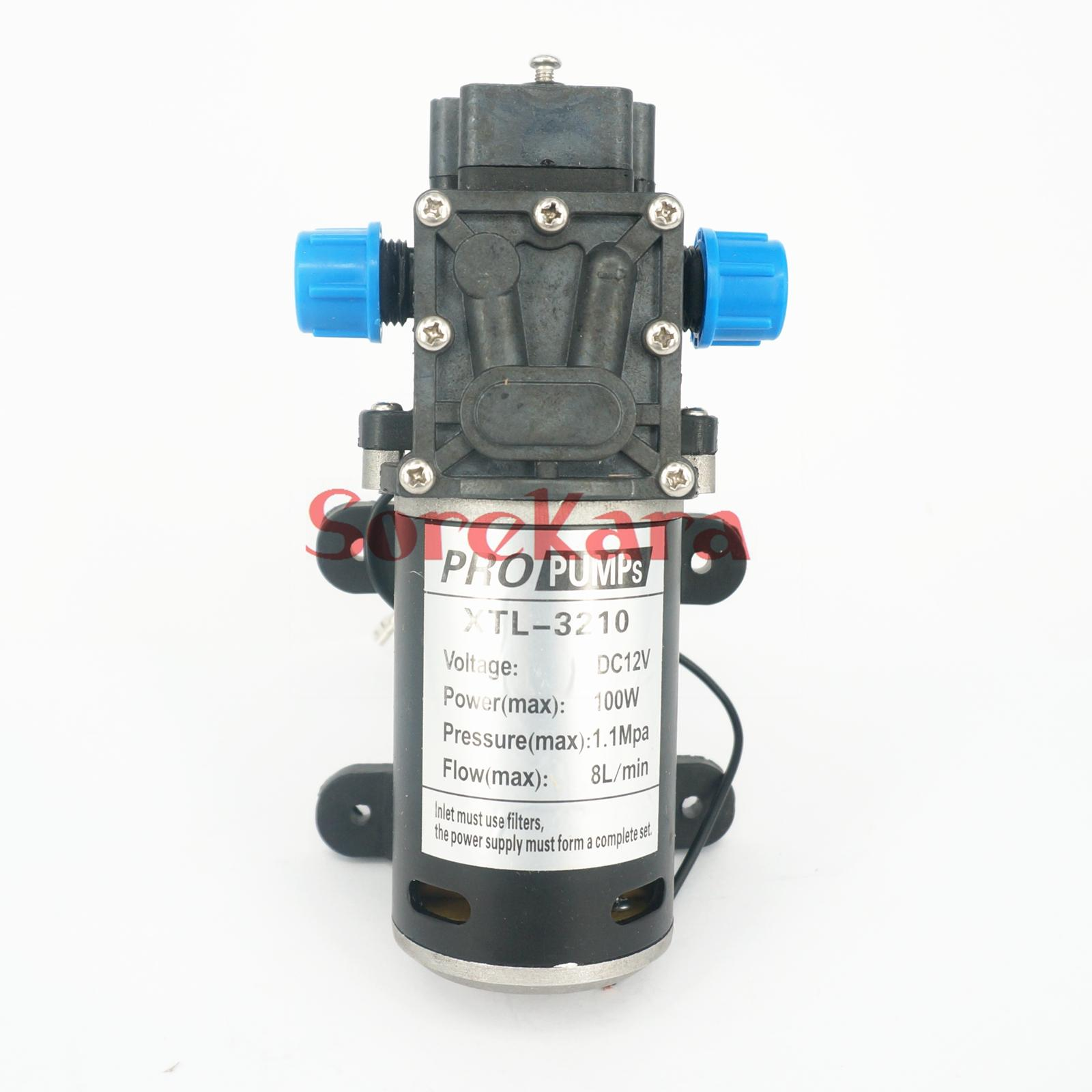 ФОТО T-HB DC 12V 100W Self-priming Booster Diaphragm Water Pump Backflow Control 300L/H For Car washing