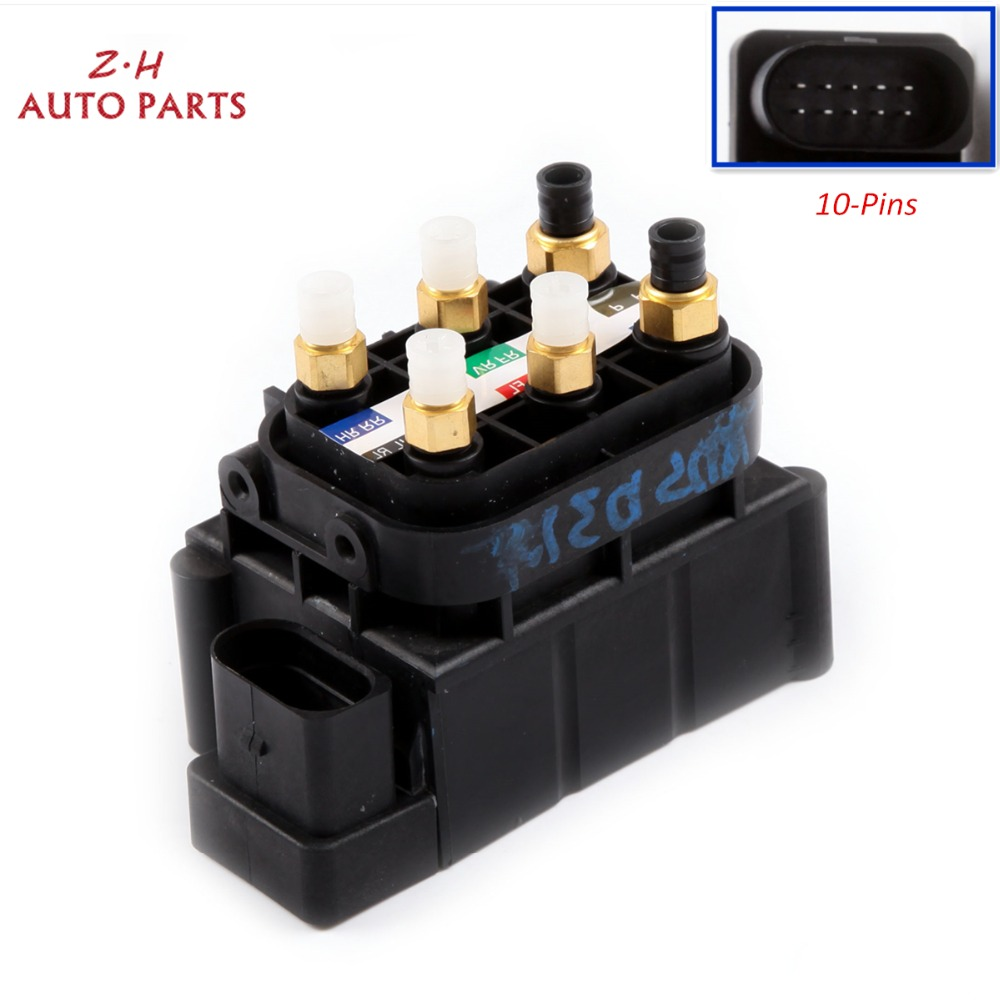 US $244 34 18% OFF|NEW Air Ride Suspension Solenoid Valve Control Unit  Block 4H0 616 013 B For Audi A6 Allroad quattro A6 A7 A8 D4 4H0616013 10  Pin-in