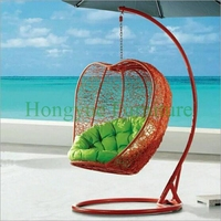 Outdoor Brown Hammock With Stand Cushions Design