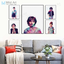 Modern Color Abstract Pop Movie Stranger Eleven Posters Prints Nordic Boy Room Wall Art Pictures Home Bar Decor Canvas Paintings все цены