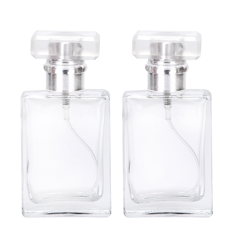 Image 3 - 30ml Glass Empty Perfume Bottles Square Spray Atomizer Refillable Bottle Scent Case with Travel Size Portable-in Refillable Bottles from Beauty & Health