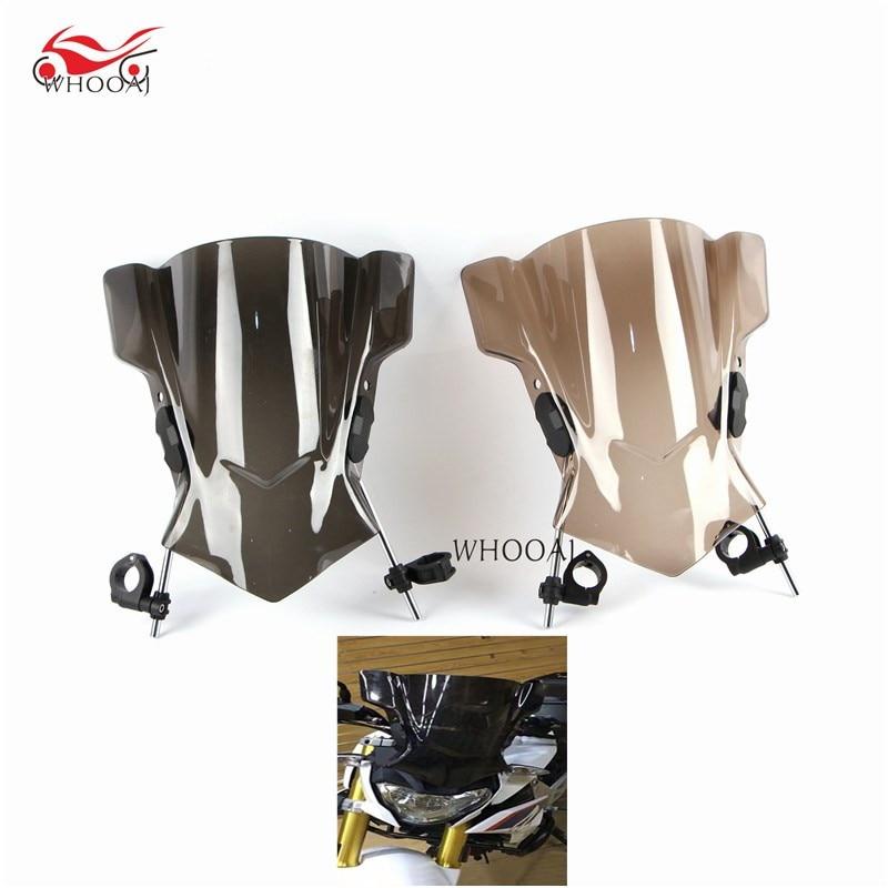 Motorcycle Bike Windshield Scooter Windscreen Wind Deflectors For Kawasaki Z750 07 09 Z1000 12 18 Z750