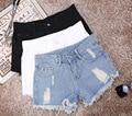 2016 Women's Fashion Vintage Tassel Loose High Waist Short Jeans Sexy Hot Woman Denim Shorts