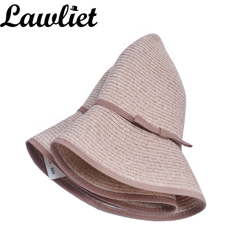 6d759b0fd US $8.43 18% OFF|Women Summer Hats Women's Woven Straw Face Saver Hat UV  Protection Floppy Sun Cap 9cm Wide Brim Beach Hats Tea party With Edge-in  ...
