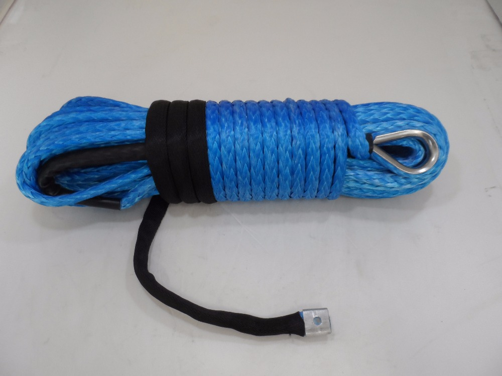 Blue 12mm*30m Synthetic Rope ,Off Road Rope,Spectra Rope,Synthetic Winch Rope,ATV Winch Accessories