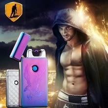 Werbe bietet Pulse Arc Metall Kreatives Feuerzeug USB Lade Leichter Zigarette Feuerzeuge Kostenloser Versand