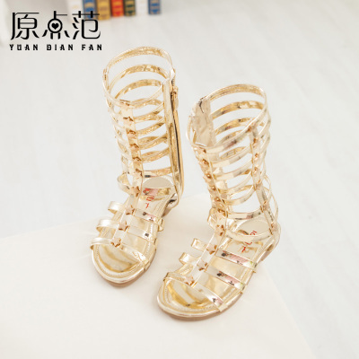 60279fc10480 2015 summer shoes girls sandals children knee high gladiator sandals kids  summer sandals for girls gold silver kids boot sandals