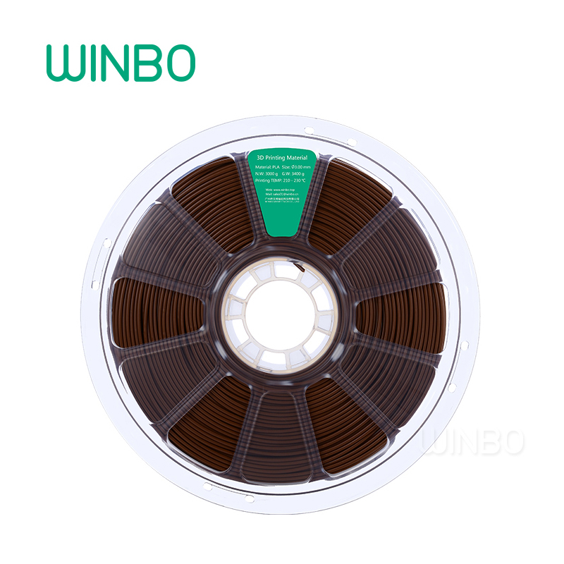 3D Printer PLA filament 3mm 3 kg Brown Winbo 3D plastic filament Eco-friendly Food grade 3D printing materials Free Shipping 3d printer filament brown colour environmentally friendly plastic materials for 3d printer