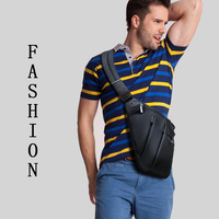 ARCTIC HUNTER Brand Shoulder Crossbody Bags Men Travel Fashion Men Bag Anti Theft Chest Pack Black