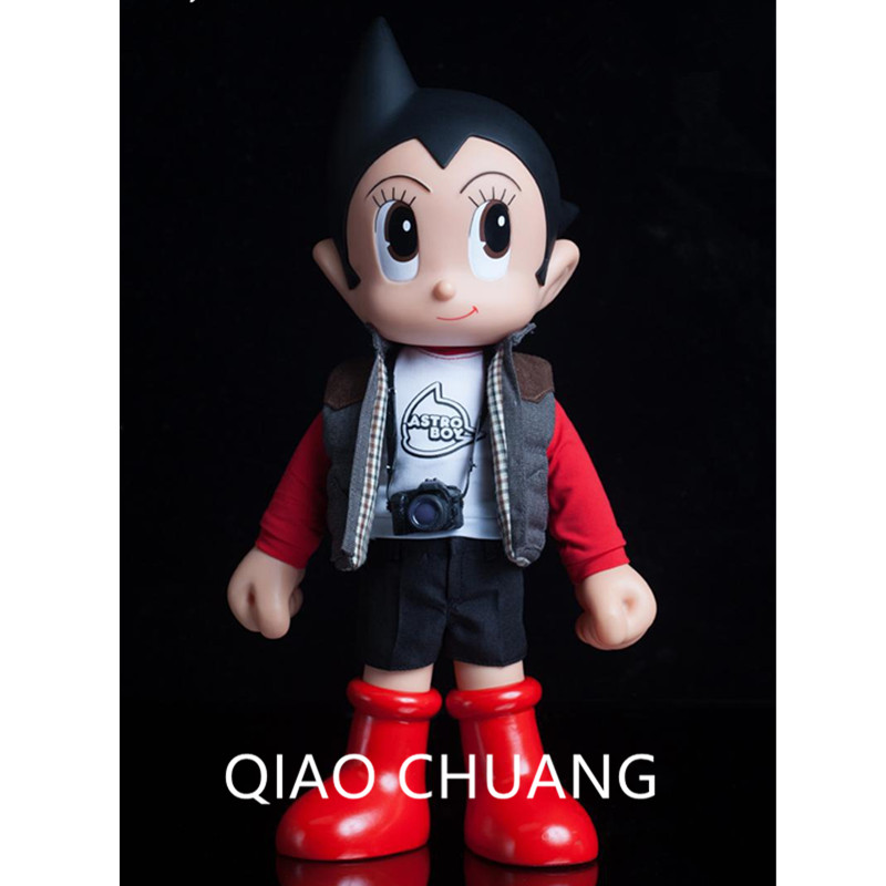 30CM Anime Tetsuwan Atom - Master Series 10 Cute Astroboy Clothes Are Real Fabric PVC Action Figure Collection Model Toy G505 master series trine steel c ring collection package of 4