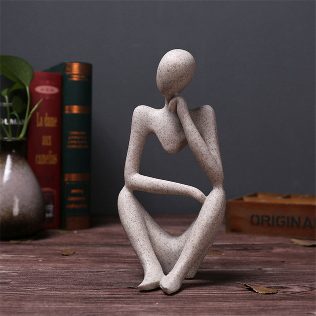 Abstract Character Statue Home Decoration Accessories Creative Home Ornament Drawing Room Office Sandstone Statue Decor figurine 5