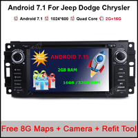Quad Core Android 7 1 1 Car DVD GPS For Chrysler 300C Aspen Jeep Cherokee Commander
