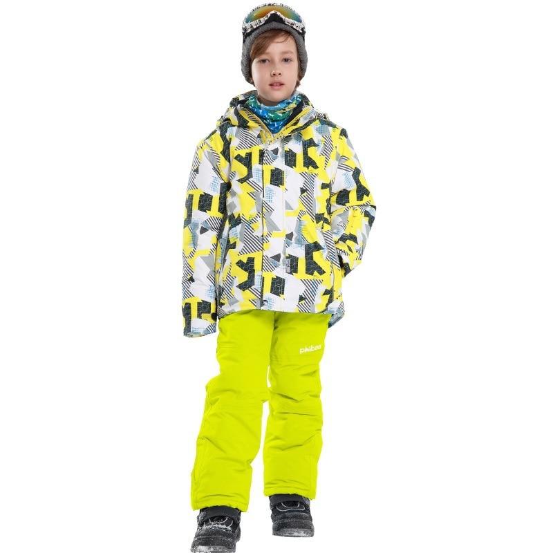 down jacket for girl -30 Degree Winter Girls Snowboard Ski Suits Children Outdoor Waterproof Pants Kids Clothes Set 30#