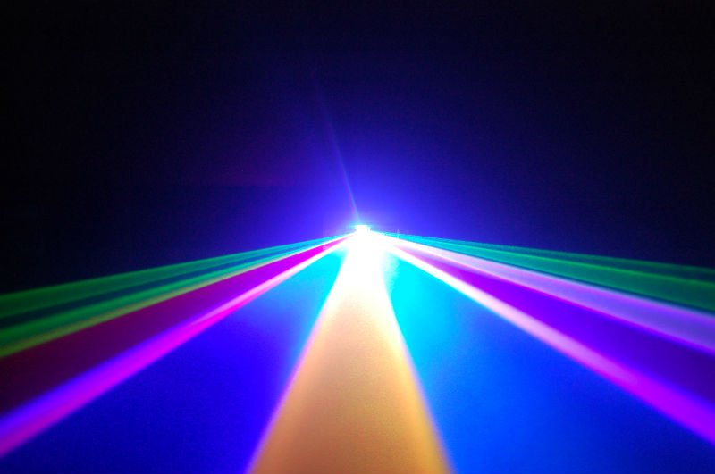 Free shipping disco laser projector 300mW Blue +200mW Red +100mW Green moving head light