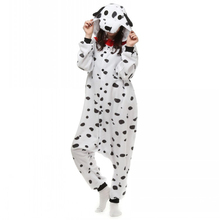 Unisex Adults White Dalmatian Spot Dog Costume Pajama Halloween Christmas Onesies Teenagers Famous Brand Cartoon Lounge Wear