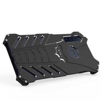 R-JUST Batman Aluminum Bumper Metal Shockproof Armor Case Cover Defender Shell with Kickstand For Samsung A9S A9 STAR LITE C9 C7 image