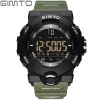 GIMTO Cool Outdoor Sport Smart Watch Men Digital LED Stopwatch Bluetooth Shock Army Electronic Watch Waterproof
