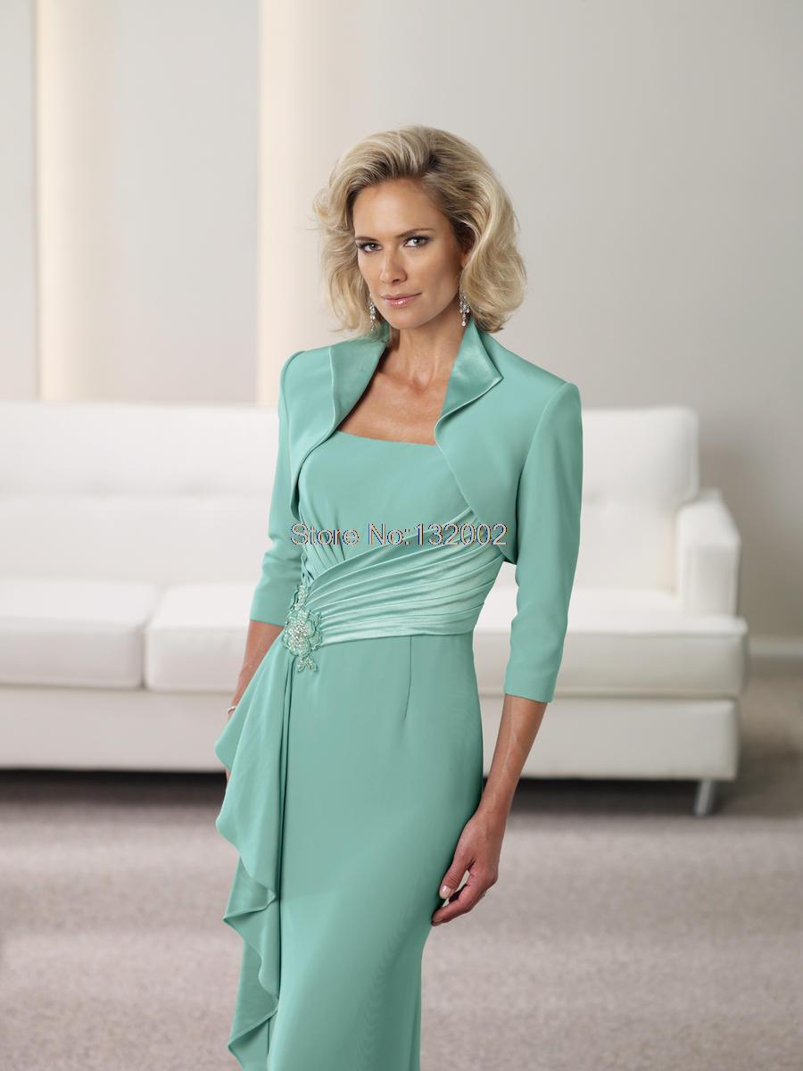 Dresses For Wedding Guests Casual Mother Of The Bride Tea Length ...