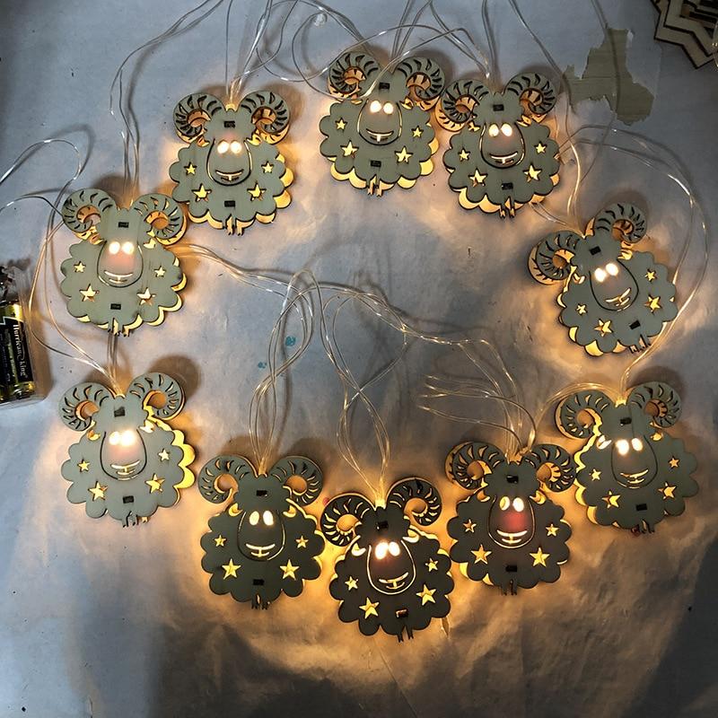 2019 Sheep Happy Eid Al-Adha Eid Mubarak Decor Ramadan Decoration Eid Mubarak Gift Home Decoration Led Light String 10pc Lights