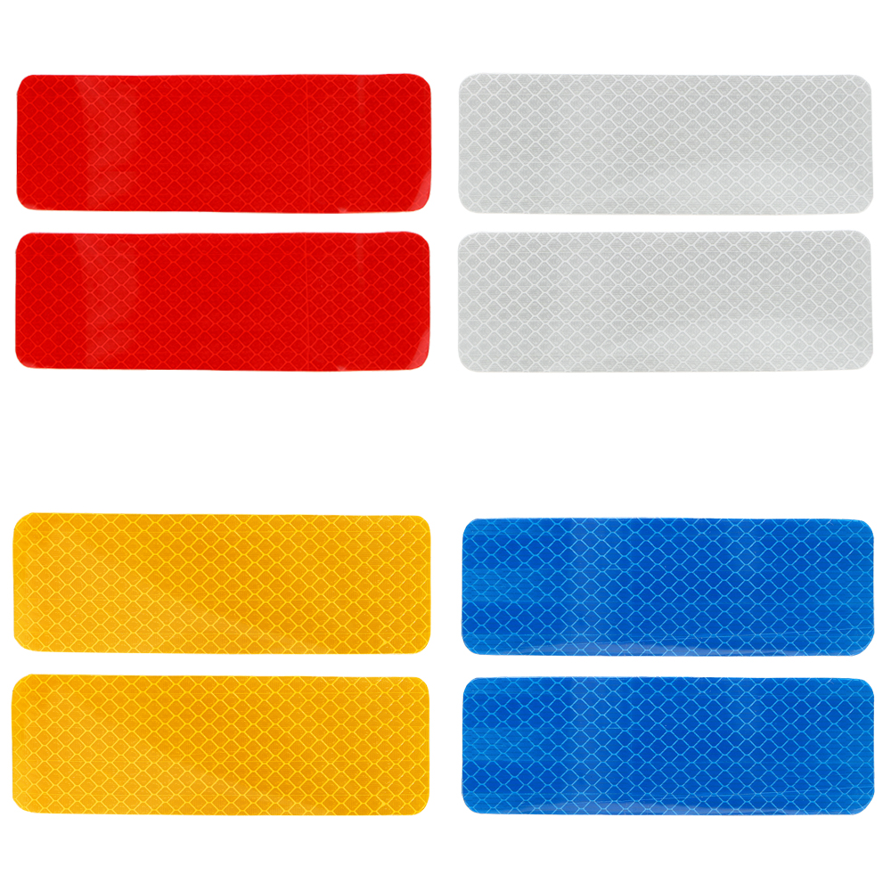12*4 CM 2pcs Bumper Car Sticker Reflective Strips Stickers Warning Strip Car Decal Sticker Car Styling 4 Colors 16 strips motorcycle accessories 7 colors car styling decals 17 or 18 inch car stickers wheel rim sticker reflective tape