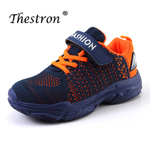 Thestron Running Shoes Children Sports Blue Pink Girls Fashion Kids Summer Teenage Boys