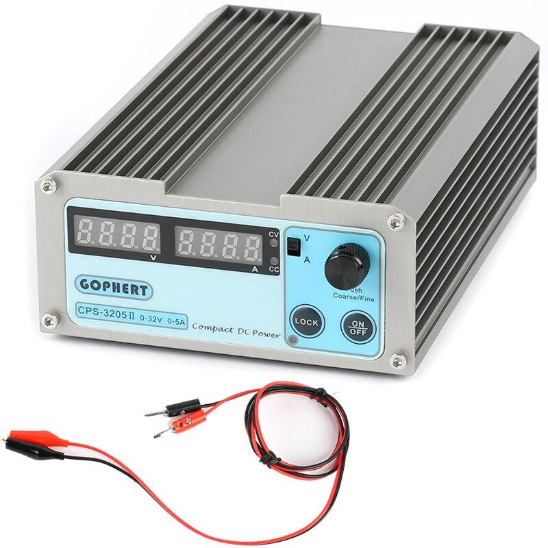 Mini 0-30V-32V réglable DC alimentation à découpage 30V 5A 160W SMPS commutable AC 110 V/220 V entrée CPS-3205/CPS-3205II