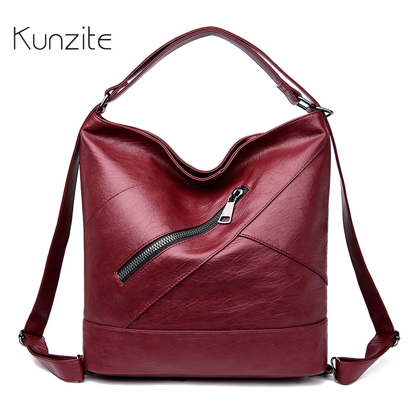 Luxury Multifunction Leather Hand bag Women Bags Famous Brand Designer Backpack Casual Daily Sling Shoulder Bag