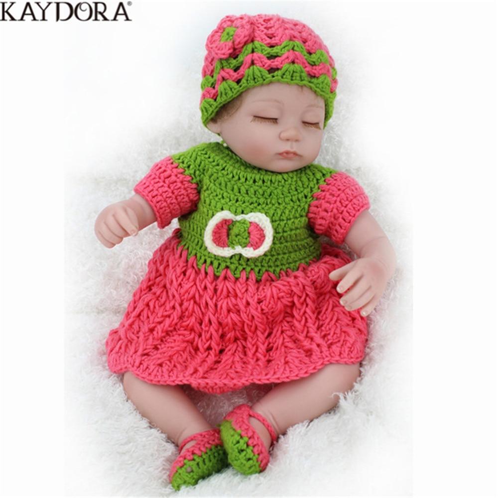 KAYDORA 16 pouces 45 CM Reborn poupée bébé vinyle corps poupée jouets pour fille garçon doux Mohair Silicone cadeau d'anniversaire réaliste