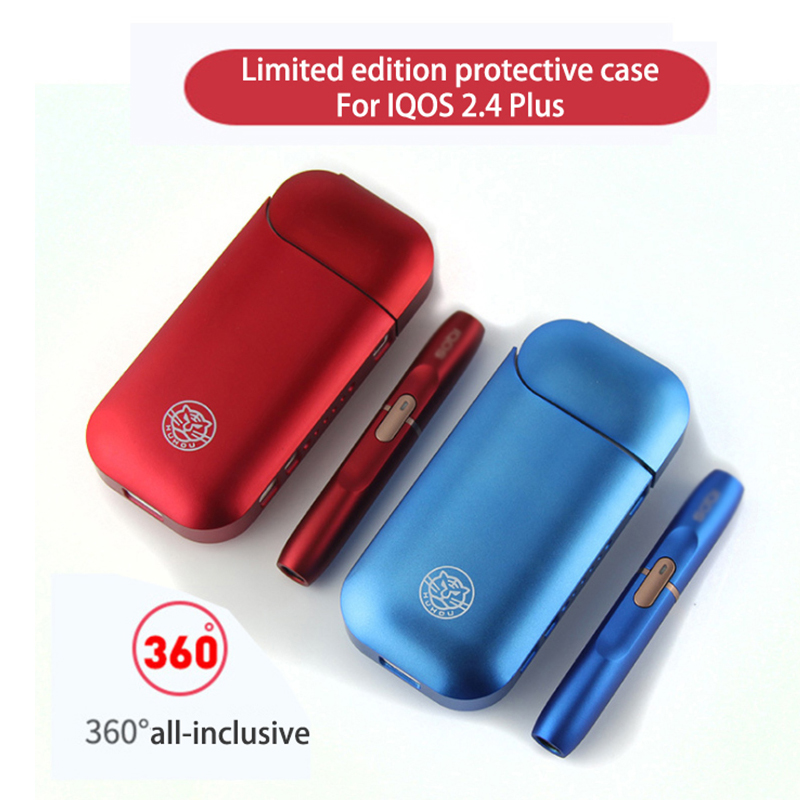 Special Price! Electronic Cigarette All-inclusive Anti-fall Protection Shell Color Case Transparent Case For Iqos 2.4plus
