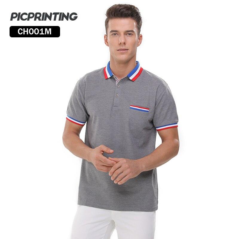 [Может Дизайн изображение Для мужчин Поло S] Лидирующий бренд Для мужчин отложным воротником Пух воротник Поло рубашка кнопки Средства уход... ...