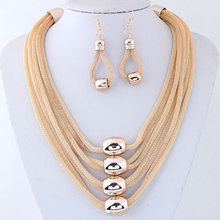 LZHLQ Women Metal Choker Necklaces Trendy Multilayer Twist Torques String Geometric Clavicle Chain Punk Jewelry Statement