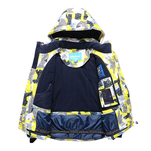 4806bf0fb046 Online Shop Detector New Kids Boys Winter Clothing Set Skiing Jacket ...