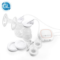 GL Electirc Breast Pump Double Bottle USB Charge Portable Quite BPA Free Large Suction Powder Baby