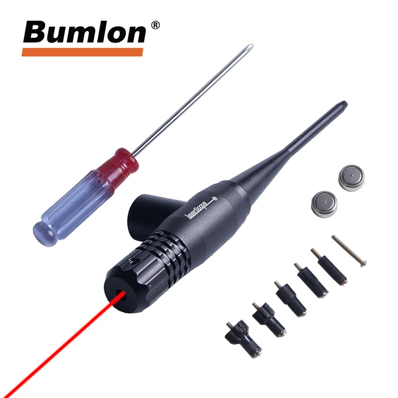 Red Dot laser Boresighter 0.22 - 0.50 Five Caliber Rifle Bore Sighter for Tactical Airsoft Hunting RL3-0033