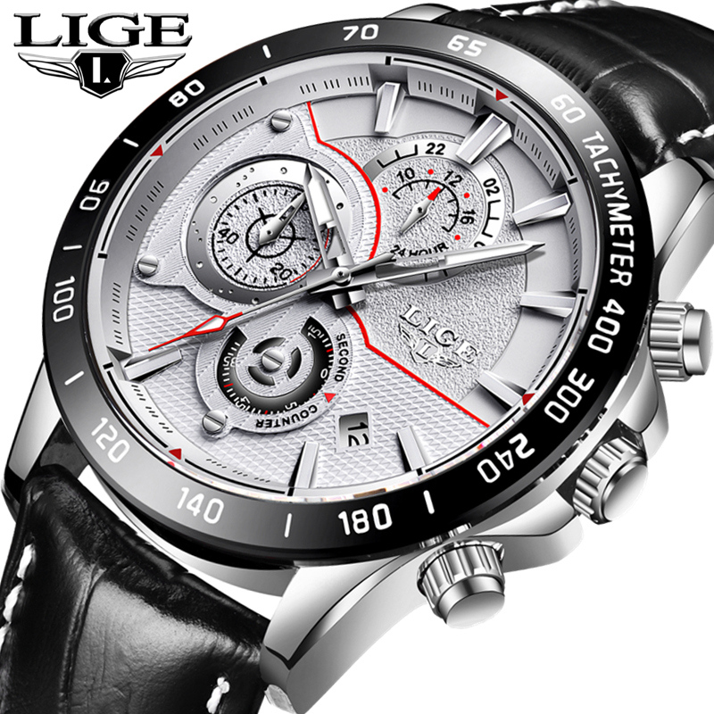 LIGE Watch Men Fashion Casual Sport Quartz Leather Clock Mens Watches Top Brand Luxury Waterproof Wrist Watch Relogio Masculino 2017 mens watches top brand luxury lige men s leather quartz watch men waterproof fashion casual wrist watches relogio masculino