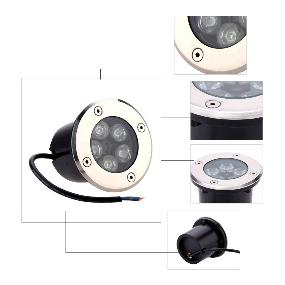 1pcs LED 5W 7W LED Underground Light Lamps Buried Recessed