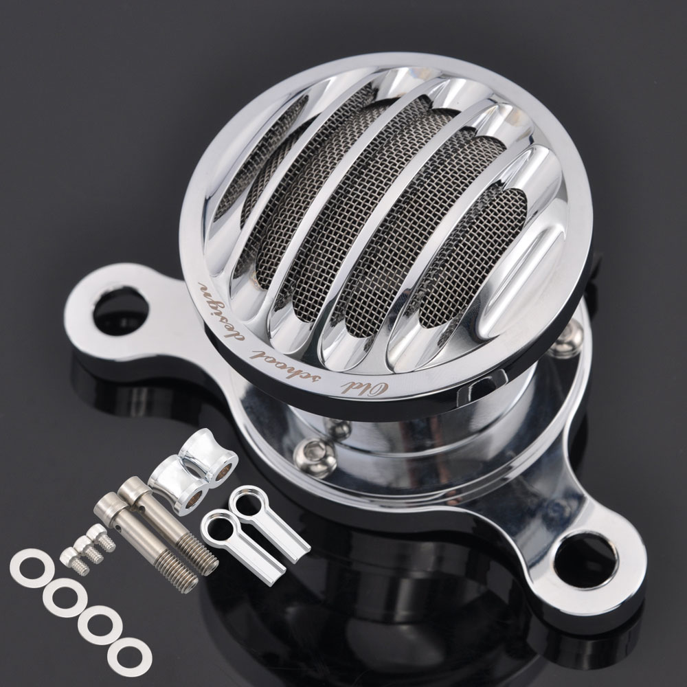 Motorcycle Velocity Stack Retro Air Cleaner Intake Filter System For Harley Sportster XL 1200 883 48 2004-UP Air Cleaner