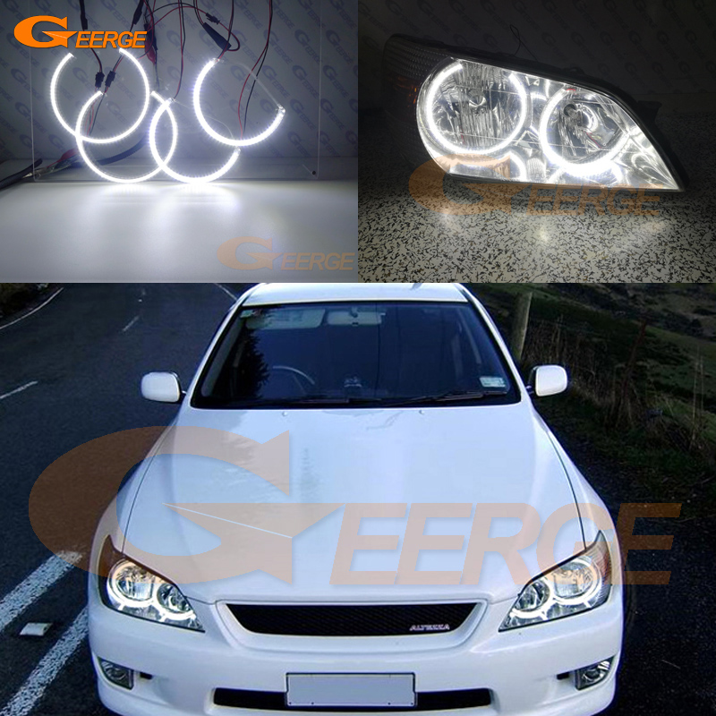 For LEXUS IS200 IS300 1998-2005 headlight Excellent angel eyes Ultra bright illumination smd led Angel Eyes Halo Ring kit