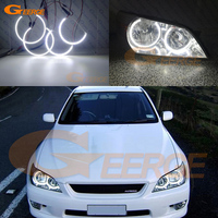 For LEXUS IS200 IS300 1998 2005 headlight Excellent angel eyes Ultra bright illumination smd led Angel Eyes Halo Ring kit