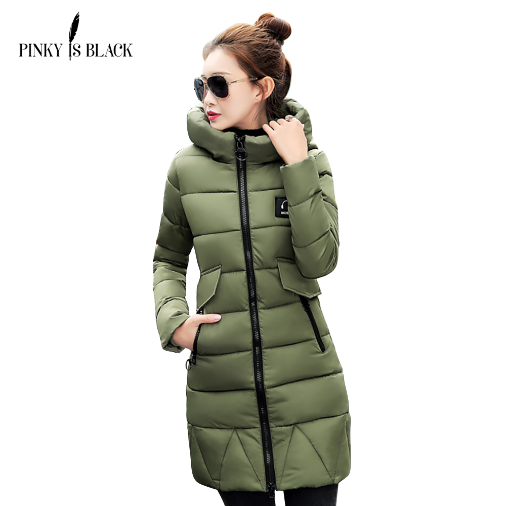 Pinky Is Black New Autumn Winter Coat Women Jacket Long Parkas Woman Clothes Solid Jacket Slim Women's Winter Jackets And Coats olgitum new autumn winter jacket coat women parka woman clothes solid long jacket slim women s winter jackets and coats cc107